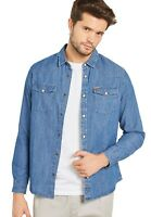 Only & Sons Mens Slim Fit Shirts Cotton Casual Long Sleeve Denim Shirt Size S-XL