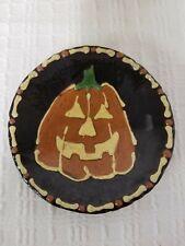Turtlecreek Pottery Plate Pumpkin Jack O Lantern 2008 David T. Smith Workshops