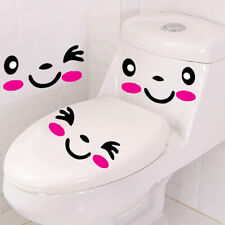 Kids Room  Wall Art Home Decor Toilet Stickers Cartoon Mural Smile Face Decal