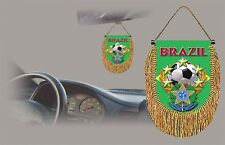 BRAZIL SOCCER FLAG CAR MINI BANNER, PENNANT