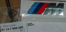 BMW Brand OEM Genuine ///M Sport Chrome Tri-Color Badge Factory Sealed Brand New