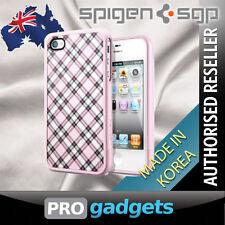 Genuine Spigen SGP Apple iPhone 4 4S Linear Velato Case Cover - Pink Unpackaged