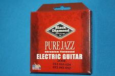 Black Diamond Chromium Flatwound Jazz Strings, Light Gauge 12-52, MPN 200L