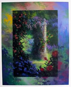 "JAMES COLEMAN ""ROSE GARDEN"" Hand Signed Limited Edition Serigraph Art"