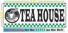 TEA HOUSE Banner Sign 4 Fresh Hot Whole Grind Coffee Cappuccino Machine
