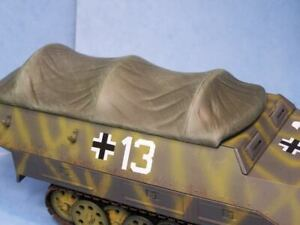 Custom German  1/18th Scale SDKFZ 251 STANDARD Tarp Cover Ultimate Soldier BBI