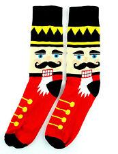 Nutcracker Men's Christmas Socks Parquet Novelty Crew Cotton Blend Red Footwear
