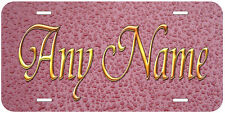 Personalized Pink Droplets Any Name Auto Car License Plate