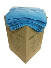"""240 Microfiber Light Blue 12""""x12"""" Cleaning Detailing Cloths Towels Auto 300GSM"""