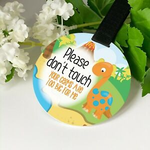 Dinosaur Do not touch the baby Germs Pram Tag car seat sign