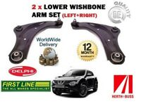 FOR NISSAN JUKE 2010 > NEW LEFT + RIGHT 2 X LOWER SUSPENSION WISHBONE ARM