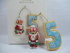 Hallmark 2008 Child My Fifth Christmas Ornament Age Bears Cookies Any Year