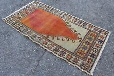"""FREE SHIPPING Vintage Handmade Turkish Oushak Area Rug 4'7""""x2'3"""""""