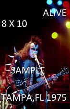 Kiss 1975 Gene Simmons 8 X 10 Color Photo 1 Tampa,FL