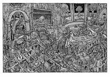 David Welker Phish MAZE LETTERPRESS ED Signed LE #/150 Poster Album Art Print GD