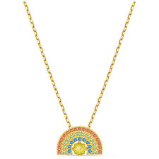Swarovski Crystal Sparkling Dance Rainbow Necklace, Gold-Tone Plated 5521756