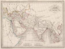 ANCIENT ASIA. Asie ancienne. Original outline colour. MALTE-BRUN c1846 old map