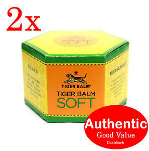 2X Tiger Balm Soft Large - 50g 萬金油for headaches, stuffy nose, insect bites(New!)