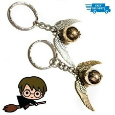 Harry Potter Keychain Golden Snitch Silver Double Angel Wings Gift Boy Girl Ring