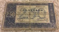 Netherlands Banknote. 2.50 Gulden. Dated 1938. Zilverbon. Series E. Pick 62.
