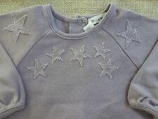 DPAM***Pyjama /grenouillère/dors bien  3 mois/60 cm Mauve à étoiles