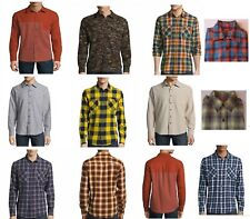 Arizona Jean Co. Hombre Camisa Franela Ls Botón Frontal Algodón S M L XL XXL
