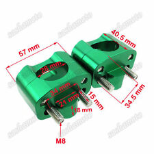 "Motorcycle CNC 1 1/8"" Green Fat Handle Bar Risers Clamp ATV Pit Dirt Trail Bike"
