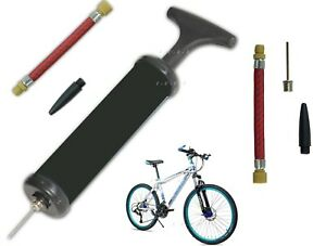 Bike Tyre Football Pump BLACK T-Handle Pumper Air Mini Plastic Bicycle Inflating