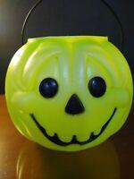 Vintage HALLOWEEN Blow Mold pumpkin jack-o'-lantern PAIL BUCKET General foam