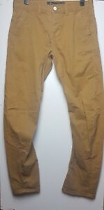 TOPMAN Men's Brown Tapered Slim Chinos Jeans Trousers Size W 34 L 34
