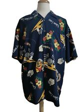 "Ferruche Bowling Floral Hawaiian Shirt Men's XL (Chest: 52"" / Front L: 32"")"