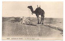 scènes et types  la prière au désert