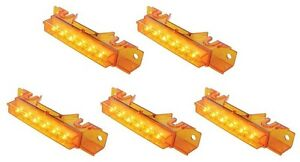 Volvo VN, VNL, VHD Amber LED Cab Marker Lights Amber Lens 37593(x5)