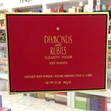 ELIZABETH TAYLOR DIAMONDS AND RUBIES PERFUMED BODY POWDER 5.3 OZ