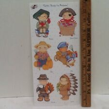 Autumn Kids in Costumes SCRAPBOOKING Stickers by Tie Me To The Moon