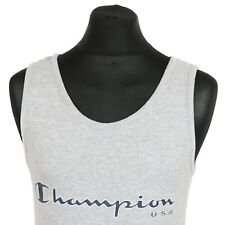 Vintage CHAMPION Spell Out Vest   Men's M   Retro Gym Running Jogging 80s