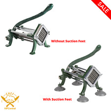French Fry Cutter Potato Slicer Durable Optional Suction Feet Multiple Sizes