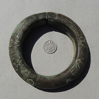 a bronze decorated old antique african bracelet nigeria #178