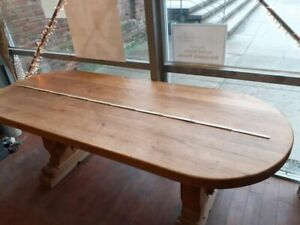 Esszimmertisch - Tisch Eiche massiv rustikal -