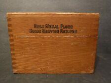 Vtg Gold Medal Flour Betty Crocker Recipe/Index Box & Cards Finger Joint Corners