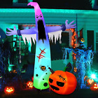 HBlife 12 FT Halloween Decoration Inflatable Ghost, Blow Up Animated Ghost with