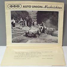 ✇ DKW Auto Union 1938 RALLY dinamico accoglienza mittelgebirgsfahrt