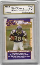 2007 Topps Adrian Peterson Football Rookie Fantasy Challenge #2 Mint Graded 10
