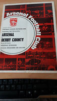 Football programme  -Division 1 69/70 - Arsenal v Derby County 8/11/1969