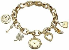Anne Klein Womens 10-7604CHRM made with Swarovski Crystal Gold-Tone Charm