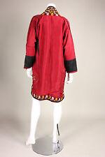 Vintage Afghanistan Turkoman Chapan Traditional Tribal Coat- S/M