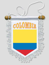 FANION DRAPEAU COLOMBIE - 13 X 15 CM - VOITURE ET MUR