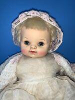 "Rare Vintage 1965 17"" Blonde Effanbee Baby Doll 9500"