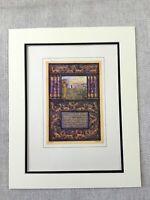1930 Art Nouveau Print Jewish Judaica Ze'ev Raban Hebrew Calligraphy Judaism