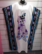Dress Fits XL 1X 2X 3X 4X Plus Caftan African Princess Yellow Purple NWT K101